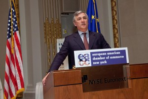 EU Commission VP Tajani at NYSE